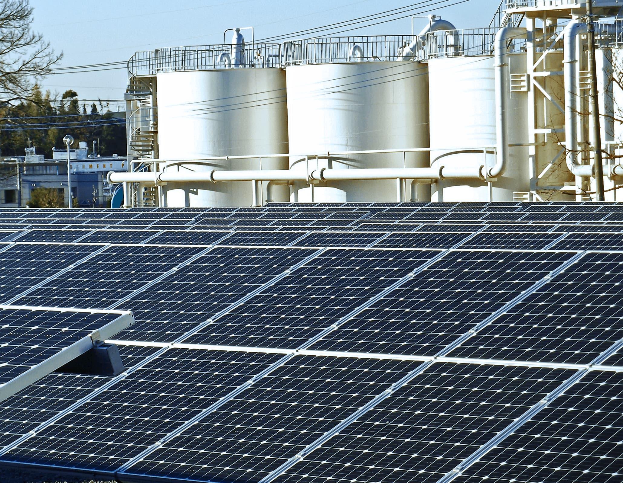産業用太陽光発電システムイメージ